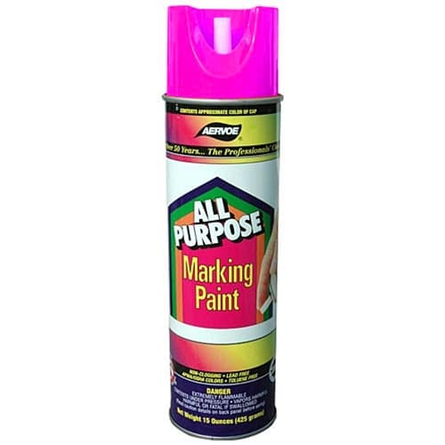 Aervoe 1399 All Purpose Fluorescent Pink Marking Paint Spray, 20 oz Can