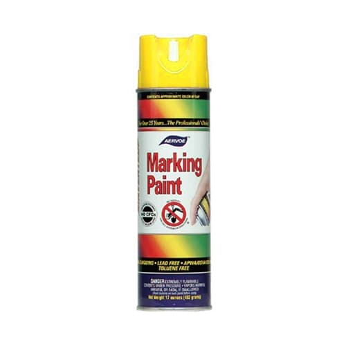 Aervoe 202 Yellow Marking Spray Paint, 20 oz
