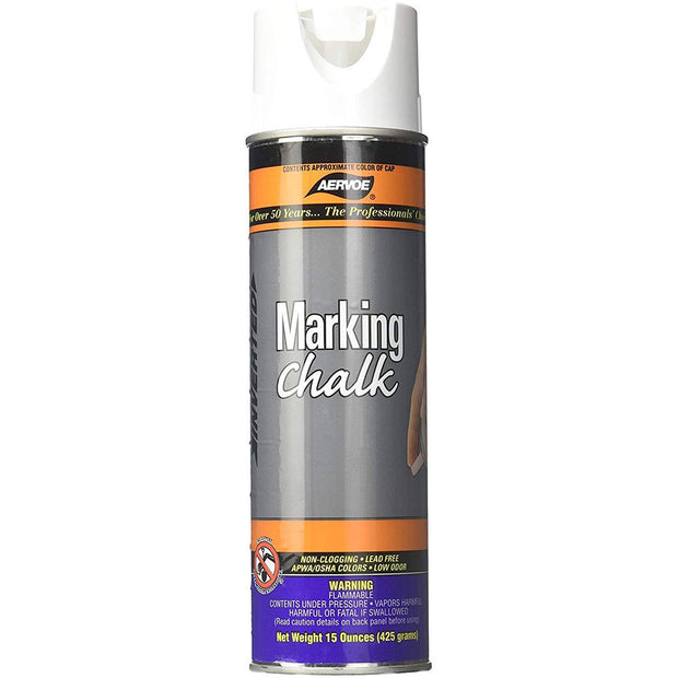 Aervoe 215 White Temporary Marking Chalk Spray, 20 oz