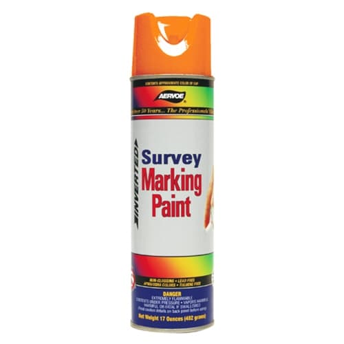 Aervoe 222 Fluorescent Survey Marking Paint, Orange Aerosol 20 oz