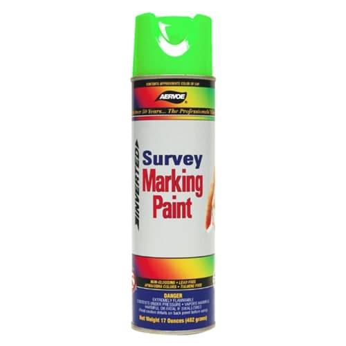 Aervoe 224 Fluorescent Survey Marking Paint, Green Aerosol 20 oz