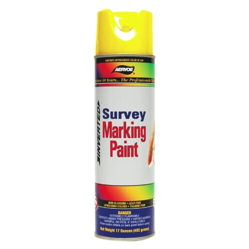 Aervoe 226 Fluorescent Survey Marking Paint, Yellow Aerosol, 20 oz