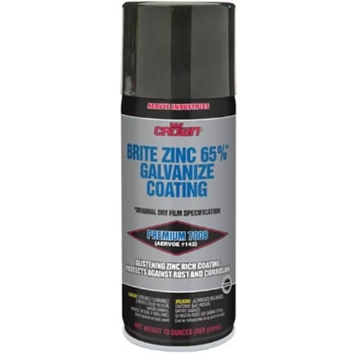 Aervoe 7008 Brite Galvanize Coating 65% Zinc Rich Aerosol Spray, 13 oz