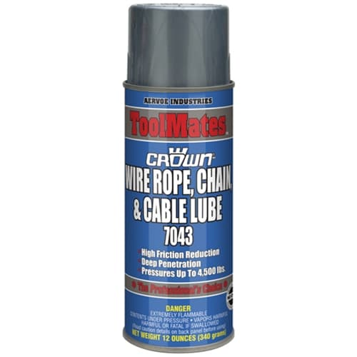 Aervoe 7043 Wire Rope Chain & Cable High Grade Lubricating Oil, 16 oz