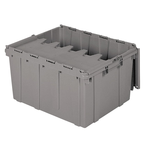Akro-Mils 39175 Container,Attached Lid,17.2 gal.,Gray