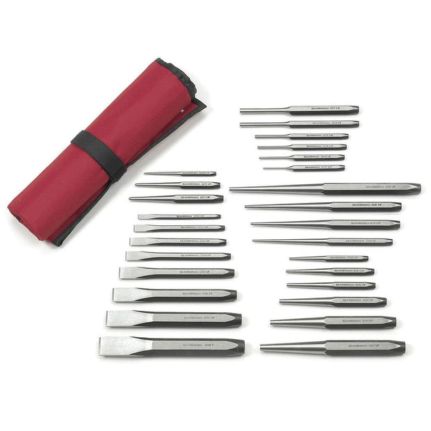 GearWrench 82306 27 Piece Alloy Steel Punch and Chisel Set