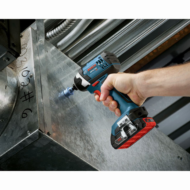 "Bosch CLPK26-181 18V 2-Tool Combo Kit, 1/2"" Compact Drill / Driver, 1/4"" Hex Impact Driver"