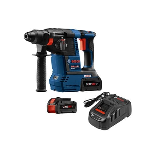 "Bosch GBH18V-26K24 18V EC Brushless 1"" SDS-plus Bulldog Rotary Hammer Kit with CORE18V Battery"