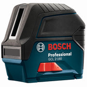 Bosch GCL 2-160 + LR 6 Self-Leveling Cross-Line Laser, Plumb Points, L-BOXX Case