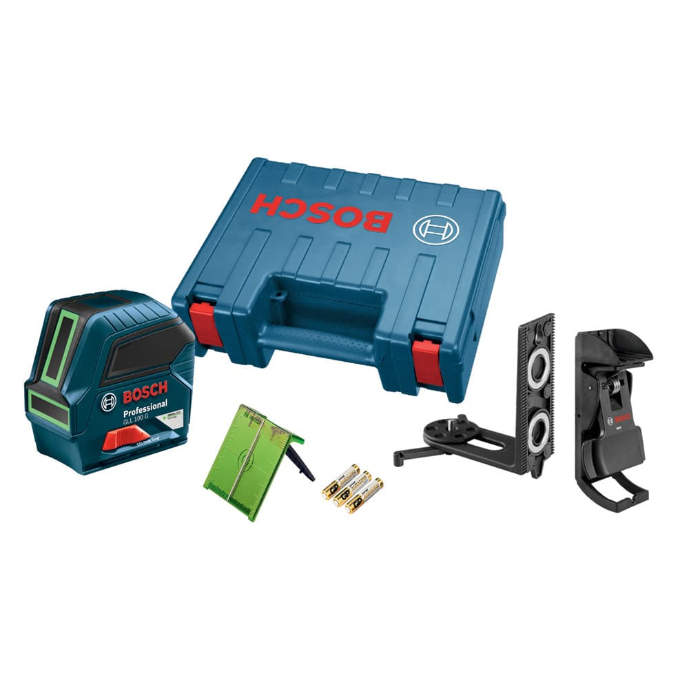 Image of Bosch GLL 100 G Green-Beam Self-Leveling Cross-Line Laser