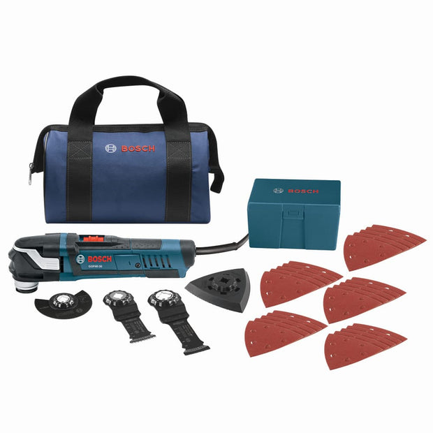 Bosch GOP40-30B StarlockPlus Oscillating Multi-Tool Kit, Snap-In Accessories