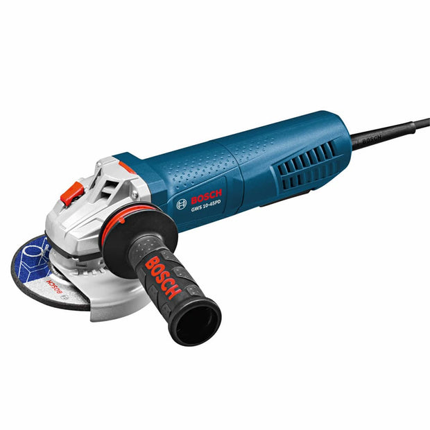 "Bosch GWS10-45PD 4-1/2"" Angle Grinder with No-Lock-On Paddle Switch"