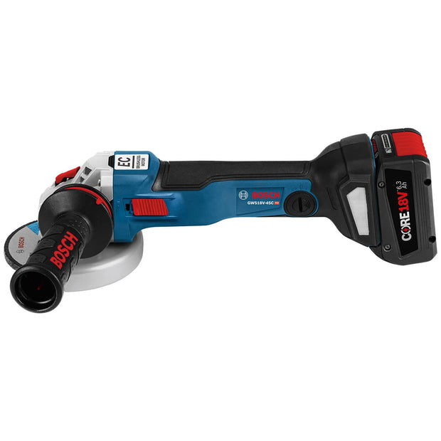 "Bosch GWS18V-45CN 18V EC Brushless Connected - Ready 4.5"" Angle Grinder"