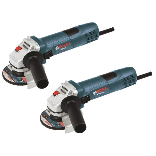 "Bosch GWS8-45-2P 4-1/2"" Small Angle Grinder 2-Pack"