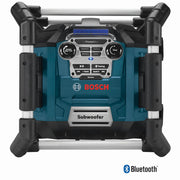 Bosch PB360C Jobsite AM/FM Radio with Charger, 360 Degree Sound and Bluetooth