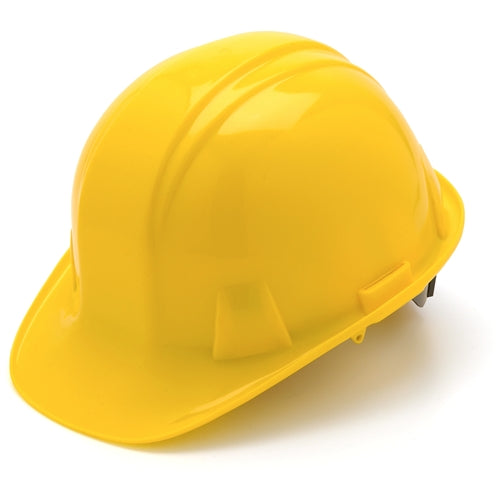 Pyramex HP14030 Yellow Cap Style 4 Point Snap Lock Suspension Hard Hat