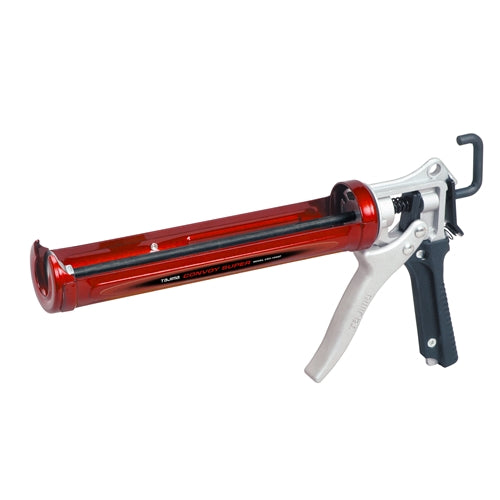 Tajima CNV-100SP CONVOY SUPER rotary caulk gun, Auto Flow Stop, extra-long 10 1/2 inch barrel, 1/10 gallon