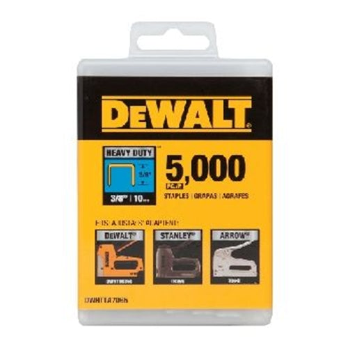"DeWalt DWHTTA7065 HEAVY-DUTY NARROW CROWN STAPLES 3/8"" - 5000 PK"