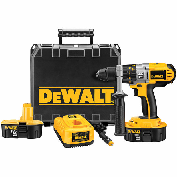 "DeWalt DCD950VX 18V 1/2"" XRP Hammerdrill/Drill/Driver Kit with Vehicle Charger"