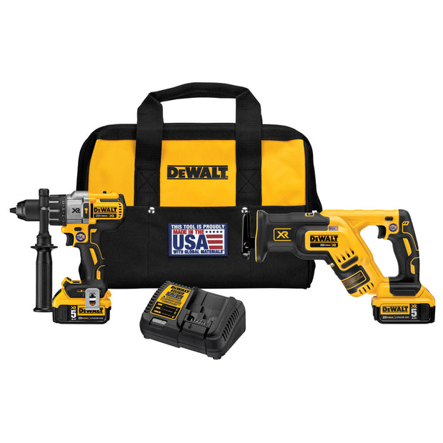 DeWalt DCK294P2 20 V MAX XR Hammerdrill and Reciprocating Saw Combo Kit