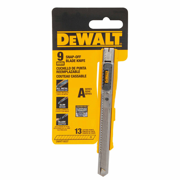 DeWalt DWHT10037 9mm Single Blade Snap-Off Knife