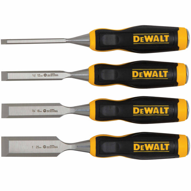 DeWalt DWHT16063 SHORT BLADE WOOD CHISELS - 4 PC
