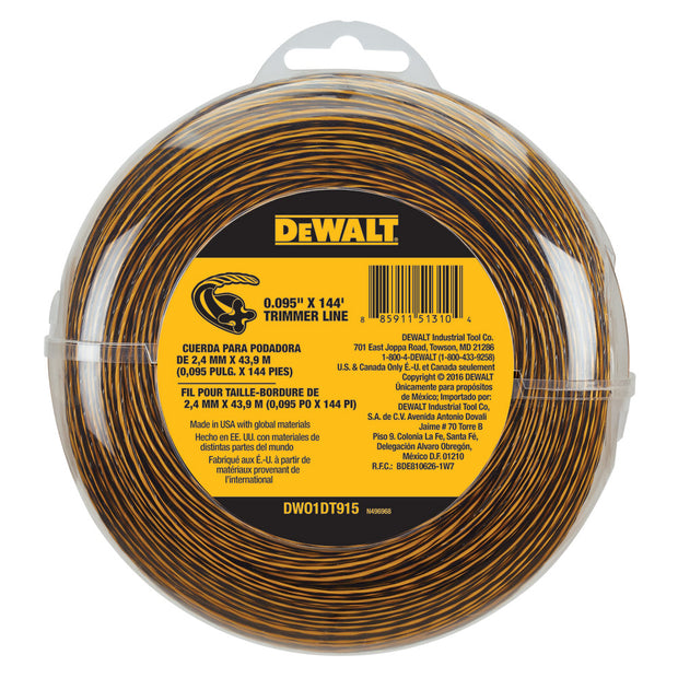 DeWalt DWO1DT915 144-ft Spool 0.095-in Trimmer Line