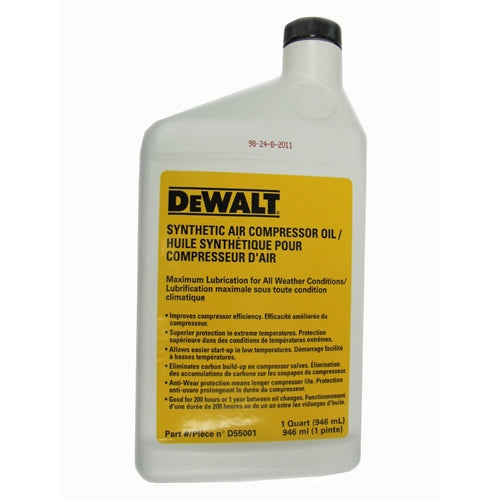 DeWalt D55001 Compressor Oil Synthetic 1 Quart