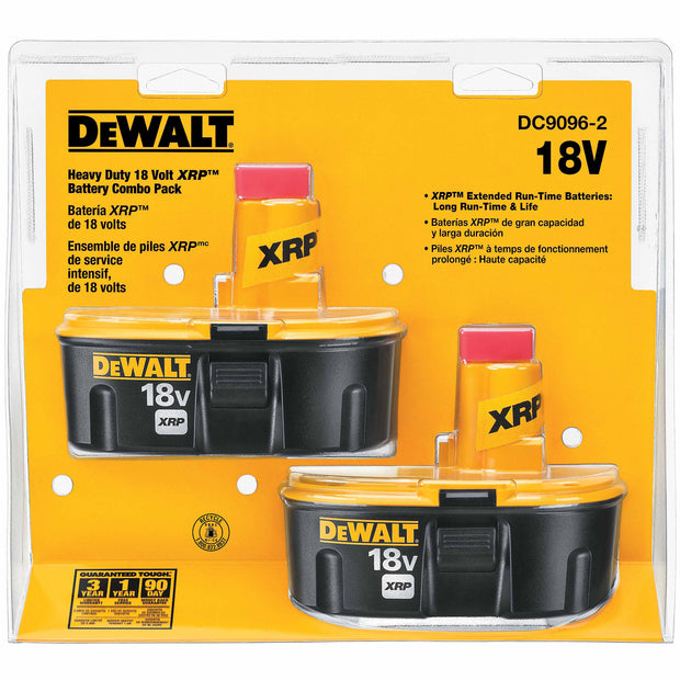 DeWalt DC9096-2 18V XRP Battery Pack (2 Pack)