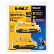 Dewalt DCB203BT-2 20V MAX XR 2.0 AH Li-Ion Bluetooth Battery 2 Pack