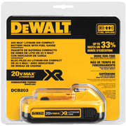 DeWalt DCB203 20V MAX Compact XR Lithium Ion Battery Pack