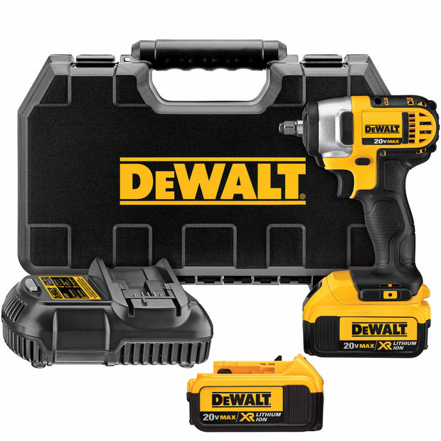 "DeWalt DCF883M2 20V MAX Lithium Ion 3/8"" Impact Wrench Kit with Hog Ring"