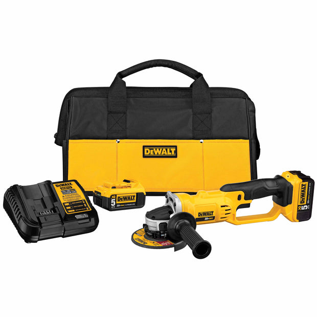 Dewalt DCG412P2 20V MAX Lithium Ion Grinder Kit with 5.0 Ah Batteries