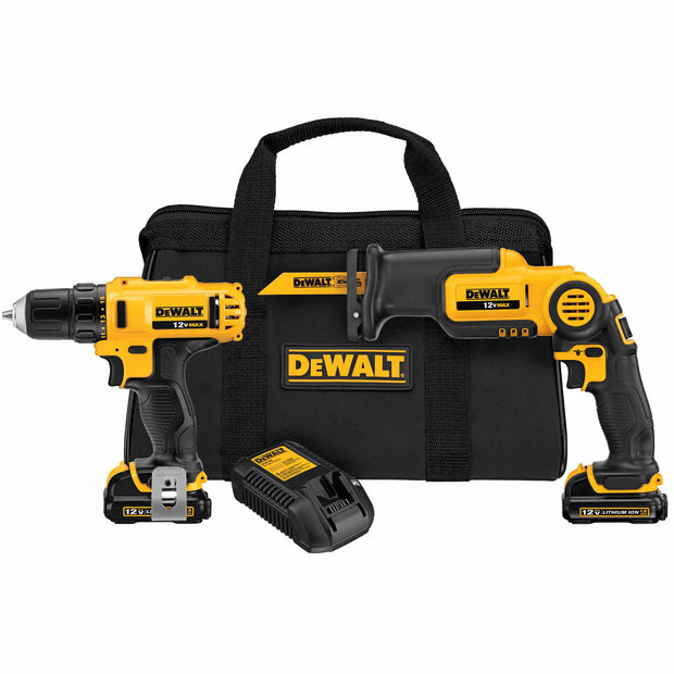 DeWalt DCK212S2 12V MAX Drill/Driver And Reciprocating Saw Combo Kit