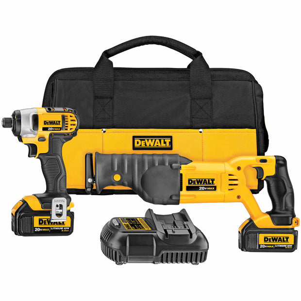 DeWalt DCK298L2 20V MAX Impact Driver/Reciprocating Saw KIT