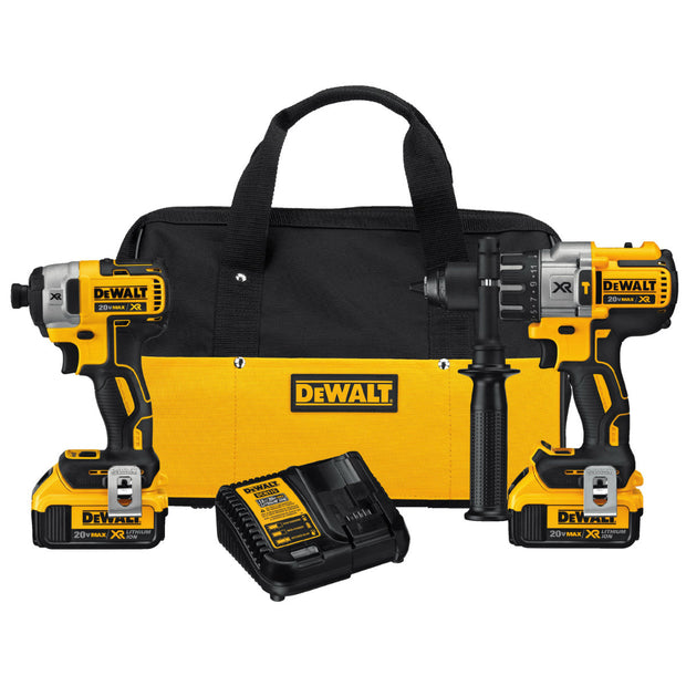 DeWalt DCK299M2 20V Li-Ion Brushless Hammerdrill / Impact Kit 4.0Ah, Bag