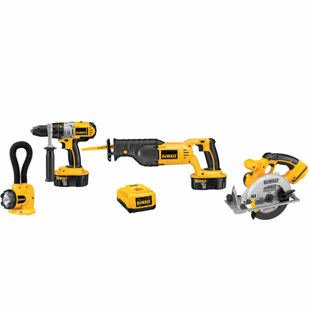 DeWalt DCK450X 18V XRP 4 Tool Combo Kit Hammerdrill / Recip / Circ / Floodlight