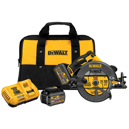 "DeWalt DCS575T2 60V MAX FlexVolt 7-1/4"" Brushless Circular Saw Kit, 2 Batteries"