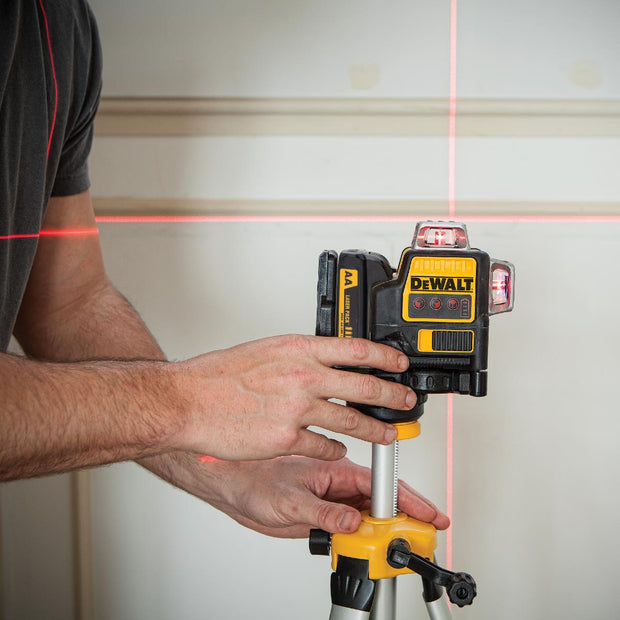 DeWalt DW089LR 12V 3 x 360 Degree Red Line Laser