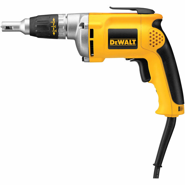 DeWalt DW272W 0-4000 Rpm Vsr Drywall Screwdriver W/50 Ft. Two Prong Cord 6.3 Amp