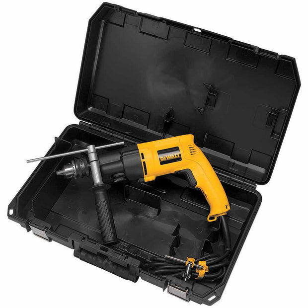 "DeWalt DW505K 1/2"" Heavy-Duty Variable Speed Dual Range Hammerdrill Kit, Reversible"