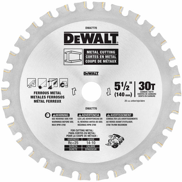 "DeWalt DWA7770 5-1/2"" 30T Metal Cutting Blade"