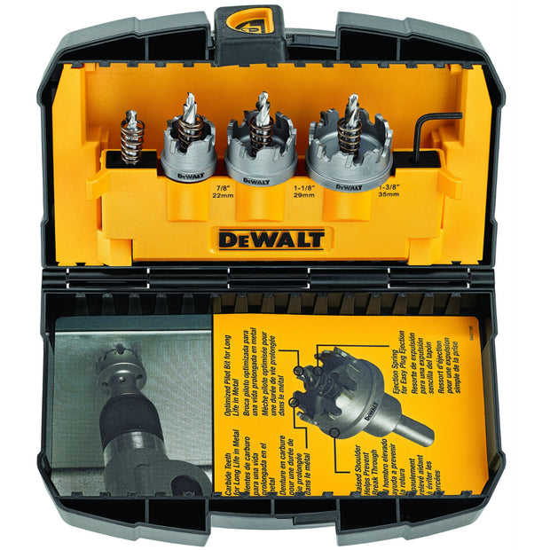 DeWalt DWACM1802 3 Piece Metal Cutting Carbide Hole Saw Set