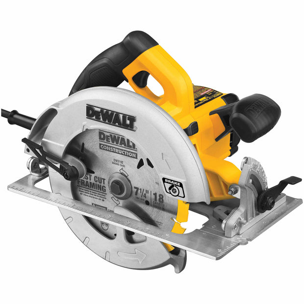 "DeWalt DWE575SB 7-1/4"" Lightweight Circular Saw with Electric Brake"