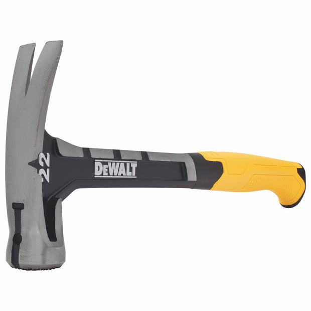 DeWalt DWHT51064 22 oz. One-Piece Steel Checkered Face Rip Claw Hammer