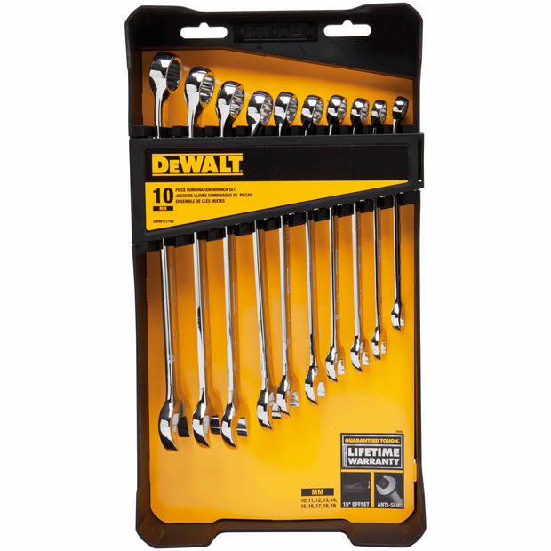 Dewalt DWMT72166 10 Piece Metric Combination Wrench Set