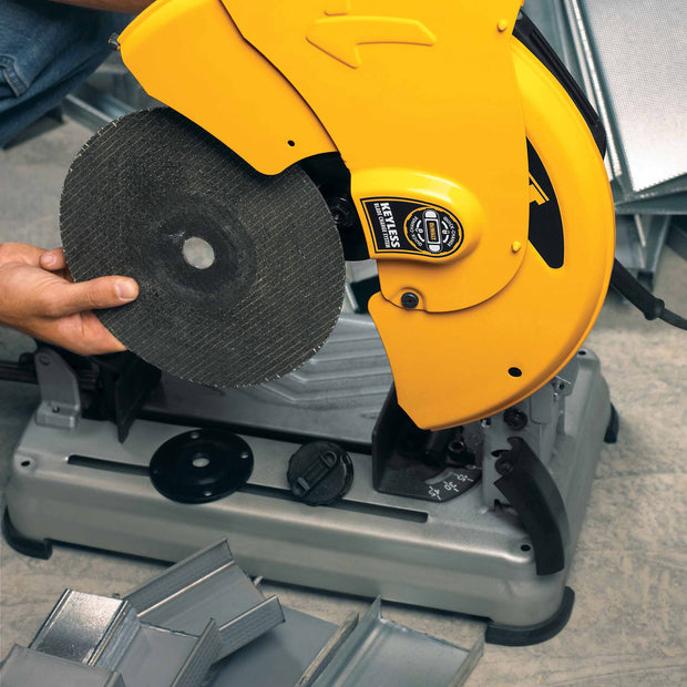 "DeWalt D28715 14"" Heavy-Duty Chop Saw with Quick-Change Keyless Blade Change System"