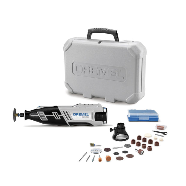 Dremel 8220-1/28 12V Max Lithium-Ion Cordless Rotary Tool Kit, 1 Attachment, 28 Accessories