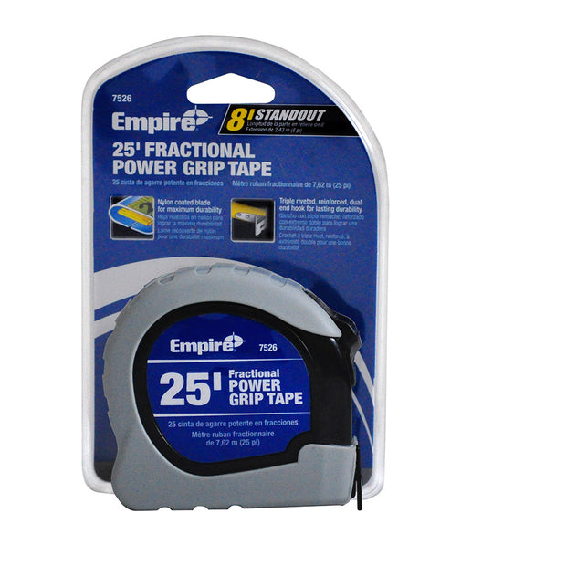 Empire Level 7526 25' Grey Power Grip Tape