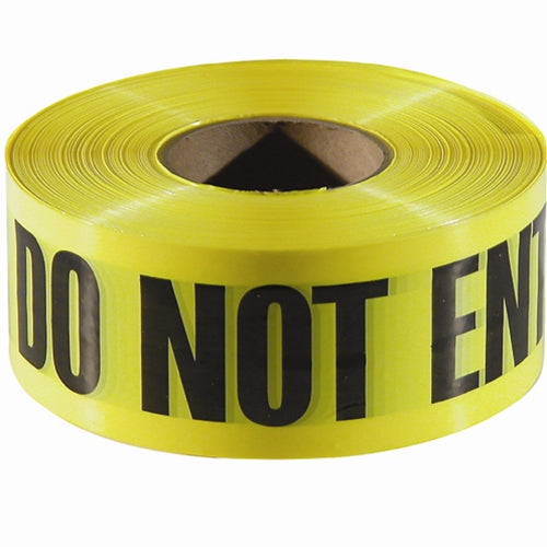"Empire Level 77-1006 1000'x3"" CAUTION DO NOT ENTER Yellow w/Black Ink 8 Pack"